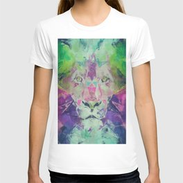 Neon Lion Art Print T-shirt