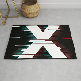 X futuristic poster Rug