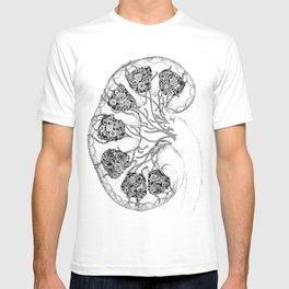 Anatomy Series: Kidney Renal Flowers T-shirt