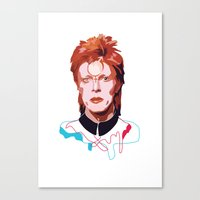 bowie Canvas Prints featuring Bowie by Anna McKay