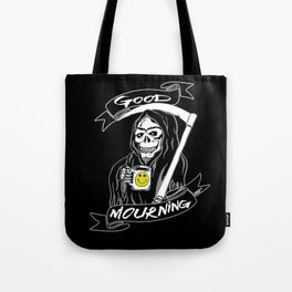 Good Mourning V2 Skulls and Coffee Tote Bag
