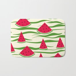 Juicy slices of watermelon Bath Mat