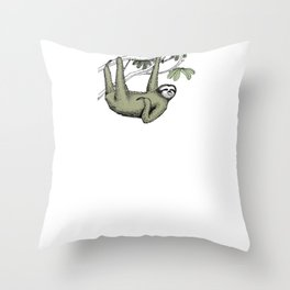 Sloth Lazy Chill Relax gift idea Throw Pillow