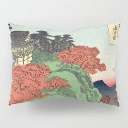 Ukiyo-e print Japanese Tōfukuji Temple and Tsūten Bridge Pillow Sham