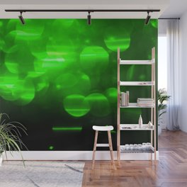 Green Bokeh Wall Mural