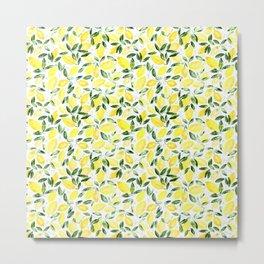 So luscious lemons || watercolor Metal Print