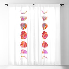 Psychedelic Moon Phases Blackout Curtain