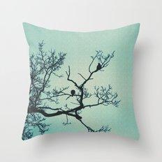 Pigeon Silhouette Light  Throw Pillow