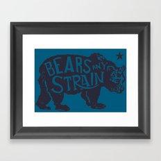 Bears Any Strain Framed Art Print
