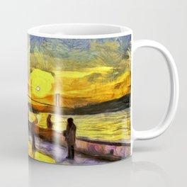 Sunset Fishing Istanbul Van Gogh Coffee Mug