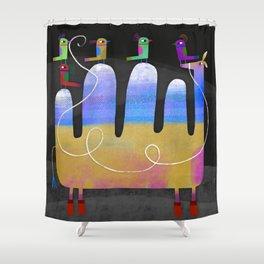 MULTI-HUMP Shower Curtain