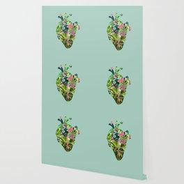Botanical Heart Mint Wallpaper