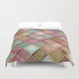 Diamond Shape Christmas Pattern 2 Duvet Cover
