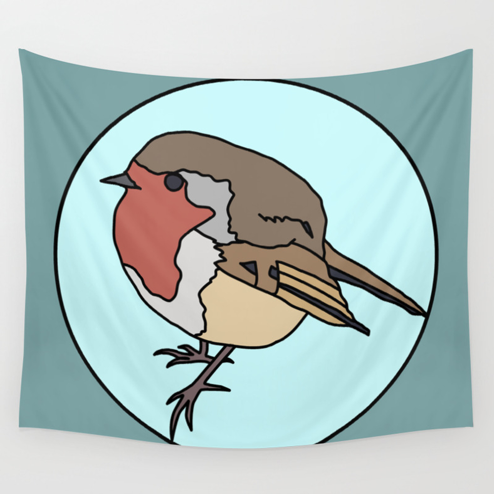 Robin - Robin Redbreast Wall Tapestry by Mothpathtags (TPS8909815) photo