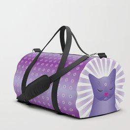 Milk Bottle Cat : Zen Duffle Bag