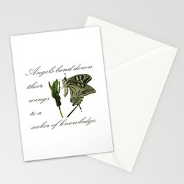 Angels Bend Down Their Wings To A Seeker Of Knowledge Stationery Cards