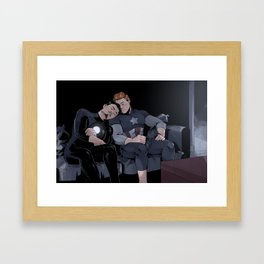 Sleepy Superheroes Framed Art Print