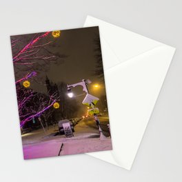 Longfellow Square Christmas Lights (2) Stationery Cards