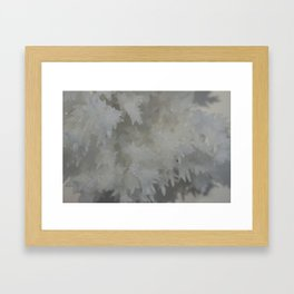 Crystaline Snow Framed Art Print