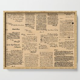 George Washington's Letters // Dark Paper Serving Tray