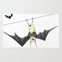 bat Area & Throw Rugs featuring bat by Alp Adal