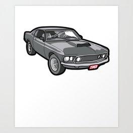 1969 Boss 429 Mustang Oldtimer Youngtimer Gift Art Print