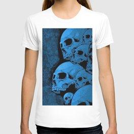 Blue skull pattern T-shirt