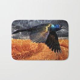 Wild Blackbird Bath Mat