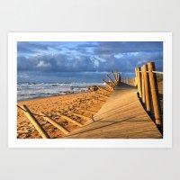 After storm beach... Art Print
