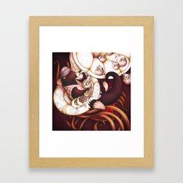 Jazzy Otter Framed Art Print