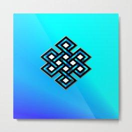 Limitless Infinity (blue ocean) Metal Print