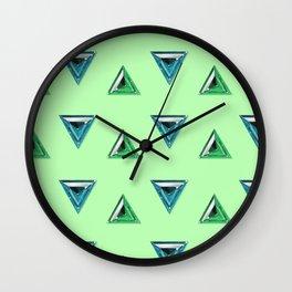 Trillion Gemstone Pattern Wall Clock