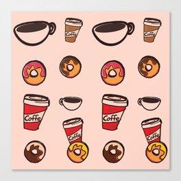 coffee&donuts Canvas Print