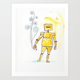 Yellow Wants To Go Out Like A Blister In The Sun Art Print