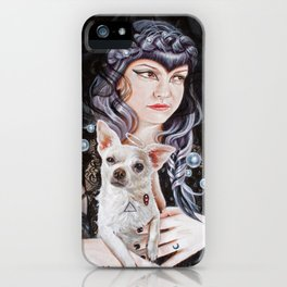 She Brings the Night iPhone Case