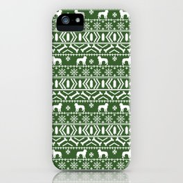 Golden Doodle fair isle christmas pet pattern minimal christmas sweater gifts iPhone Case