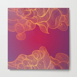Heat Wave Abstract Waves Metal Print