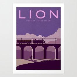 Lion Alternative Vector Art Poster Art Print