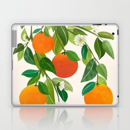 Oranges and Blossoms II / Tropical Fruit Illustration Laptop & iPad Skin