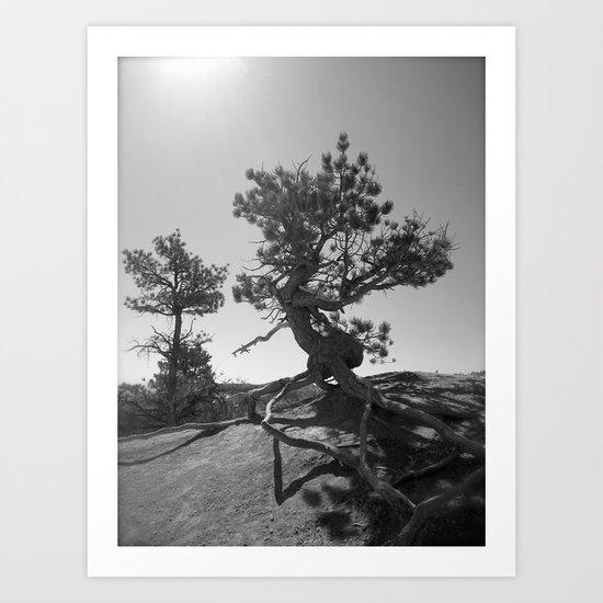Dancing tree Art Print
