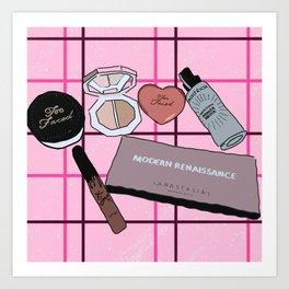 Makeup shelfie Art Print