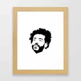 Mo Salah Face Framed Art Print