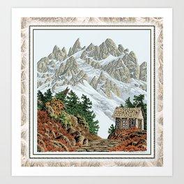 BEYOND MOUNT SHUKSAN AUTUMN COLOR VERSION Art Print