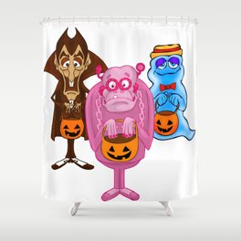 Monster Cereals Shower Curtain
