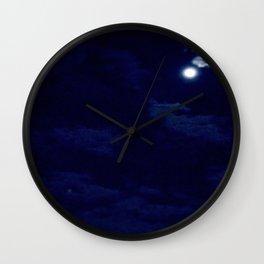 The night with a hazy moon Wall Clock