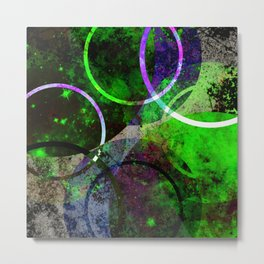 Other Dimensions - Abstract, geometric, textured, space themed artwork Metal Print