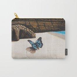 Le papillon de l'amour bleu azur Carry-All Pouch