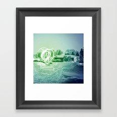 l'étoile dans le jardin Framed Art Print