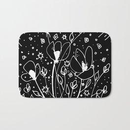 Scribble Doodle Flowers No.6B by Kathy Morton Stanion Bath Mat
