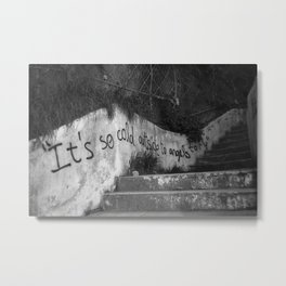 It's so could outside to angels to fly Metal Print